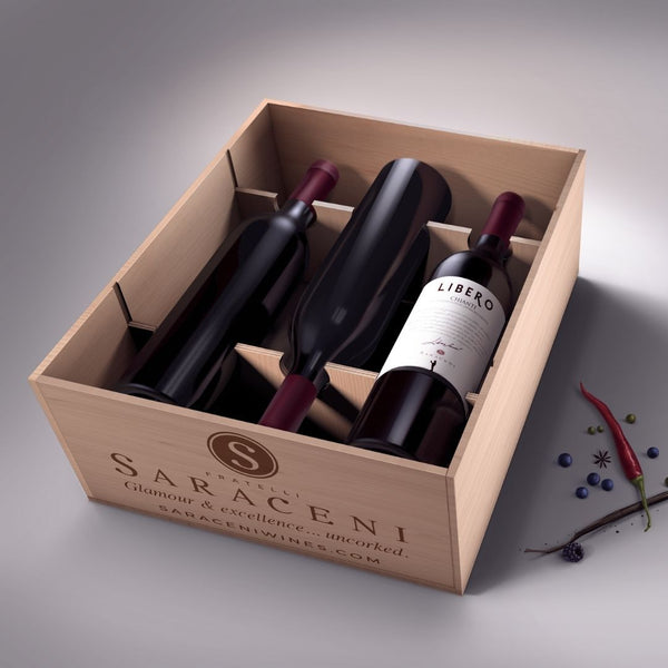 Explore our World | 12-pack Red Wine, 12x750ml, 13% ABV Saraceni Wines