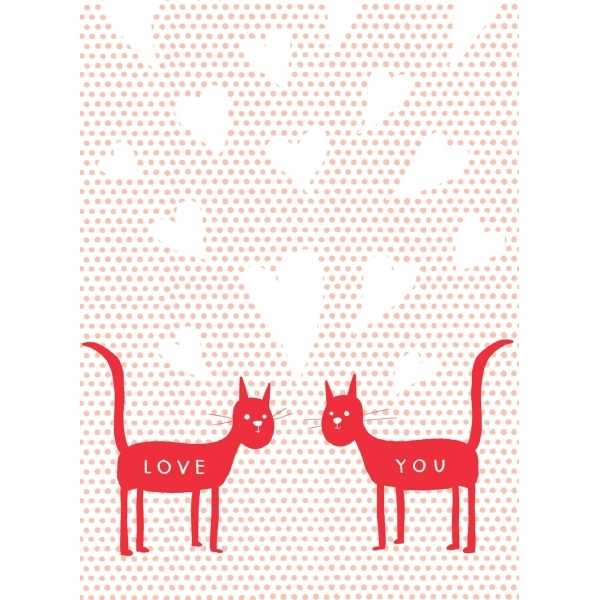 Carolyn Suzuki Love Cats Card