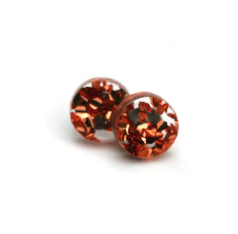 Martha Jean Rose Copper Mini Circle Stud Earrings