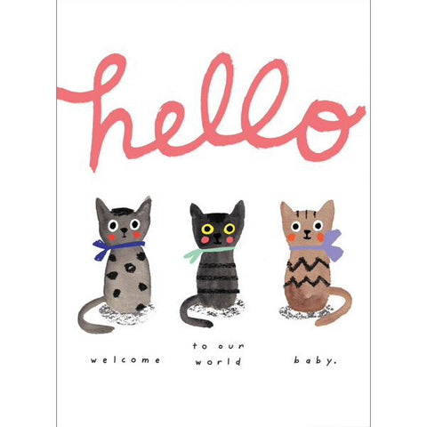 Carolyn Suzuki Hello Baby Kittens Card