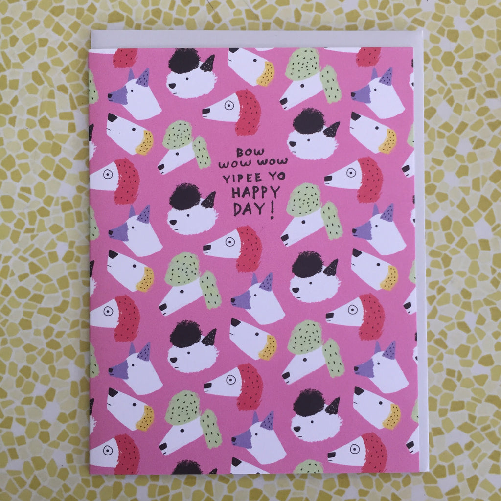 Carolyn Suzuki Bow Wow Wow Birthday Card