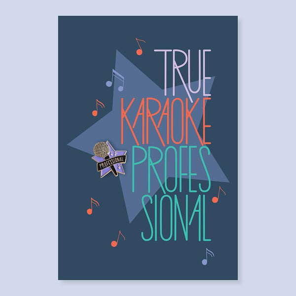 The Good Twin Karaoke Professional Pin & Postcard