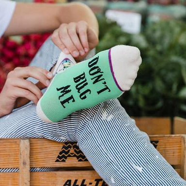 Woven Pear Dont Bug Me Ankle Socks