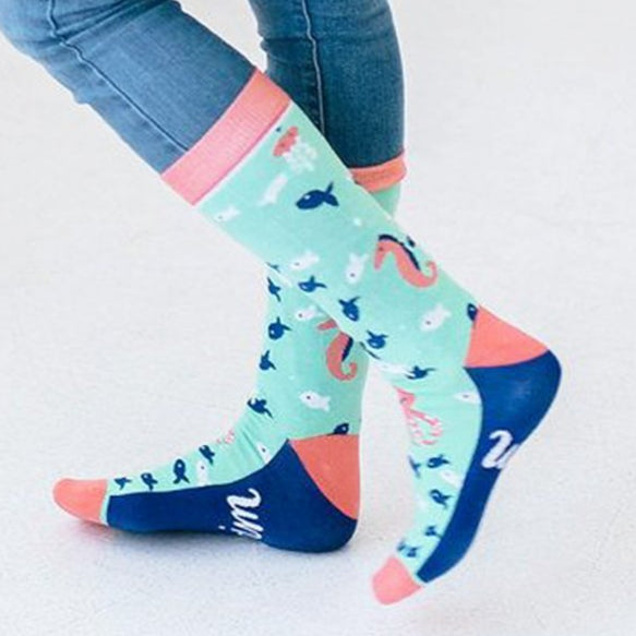 Woven Pear Mermaid Socks