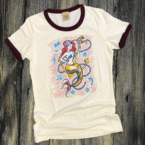 Atomic Swag Queen of the Sea Ringer Tee