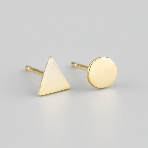 Ayana Yellow Gold Let's be Odd Studs