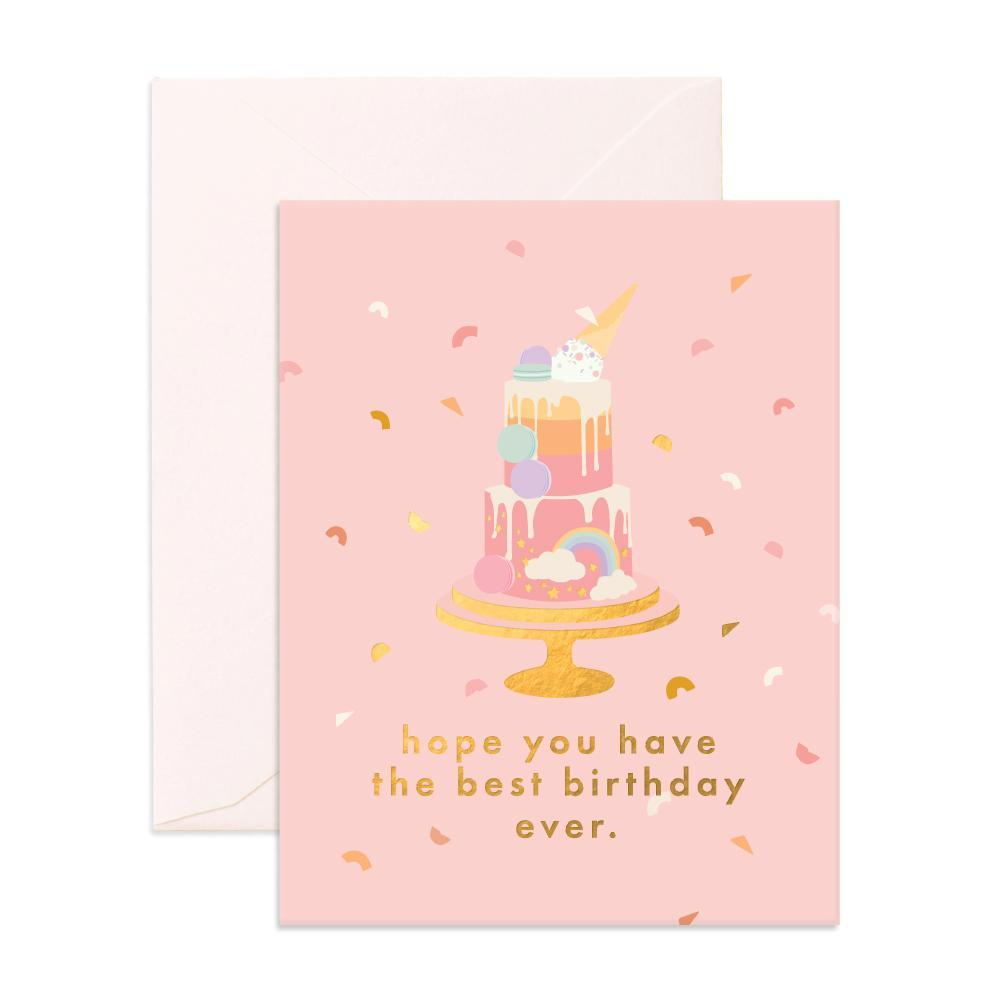 Fox & Fallow Best Birthday Cake Card
