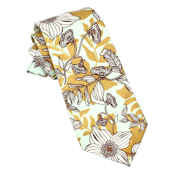 Dressed for Sunday Autumn Floral Necktie