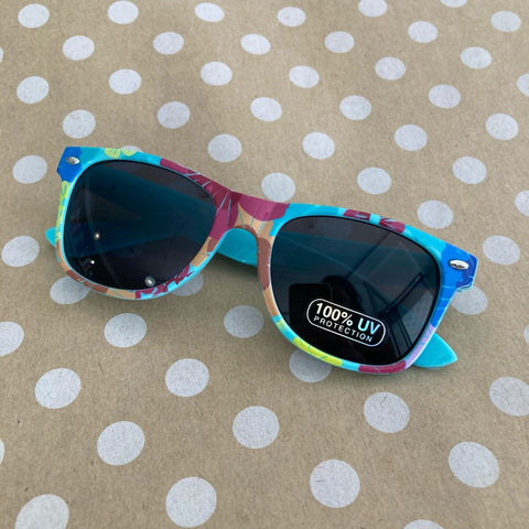 Unity Kids' Blue Floral Sunglasses