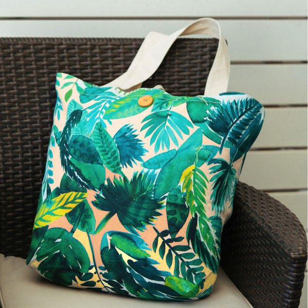 Hello Sunday Jungle Leaf Tote