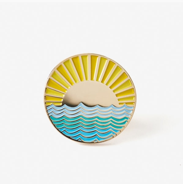 The Good Twin Sunny Side Pin & Postcard