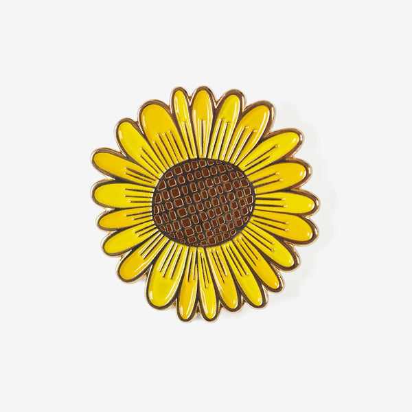 The Good Twin Sunflower Pin & Postcard