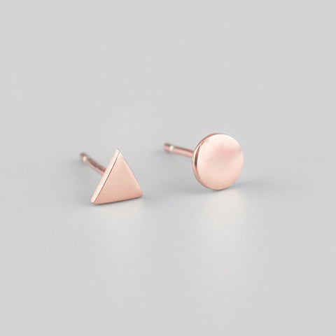 Ayana Rose Gold Let's be Odd Studs