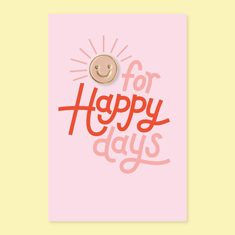 The Good Twin Happy Day Pin & Postcard