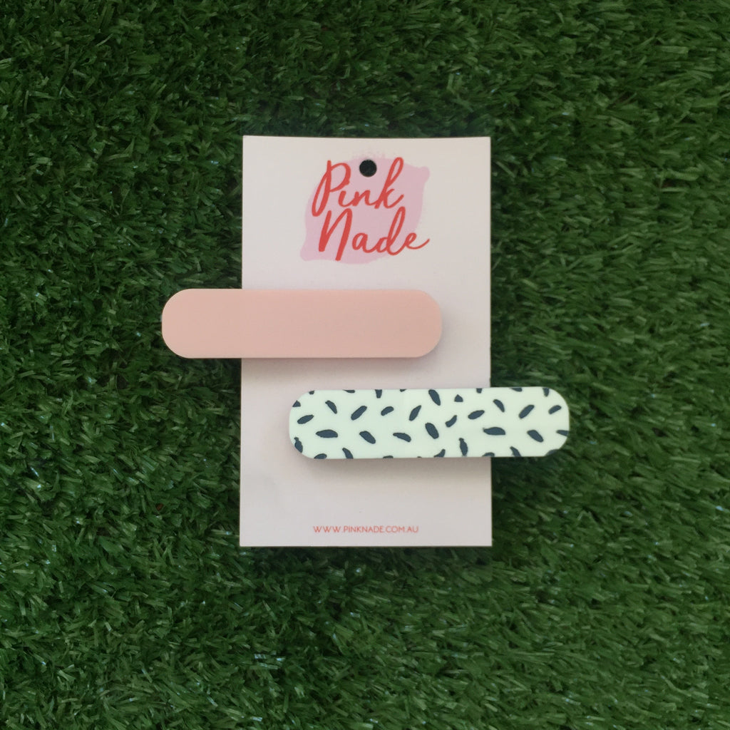 Pink Nade Pink and Spot Hair Clip Set