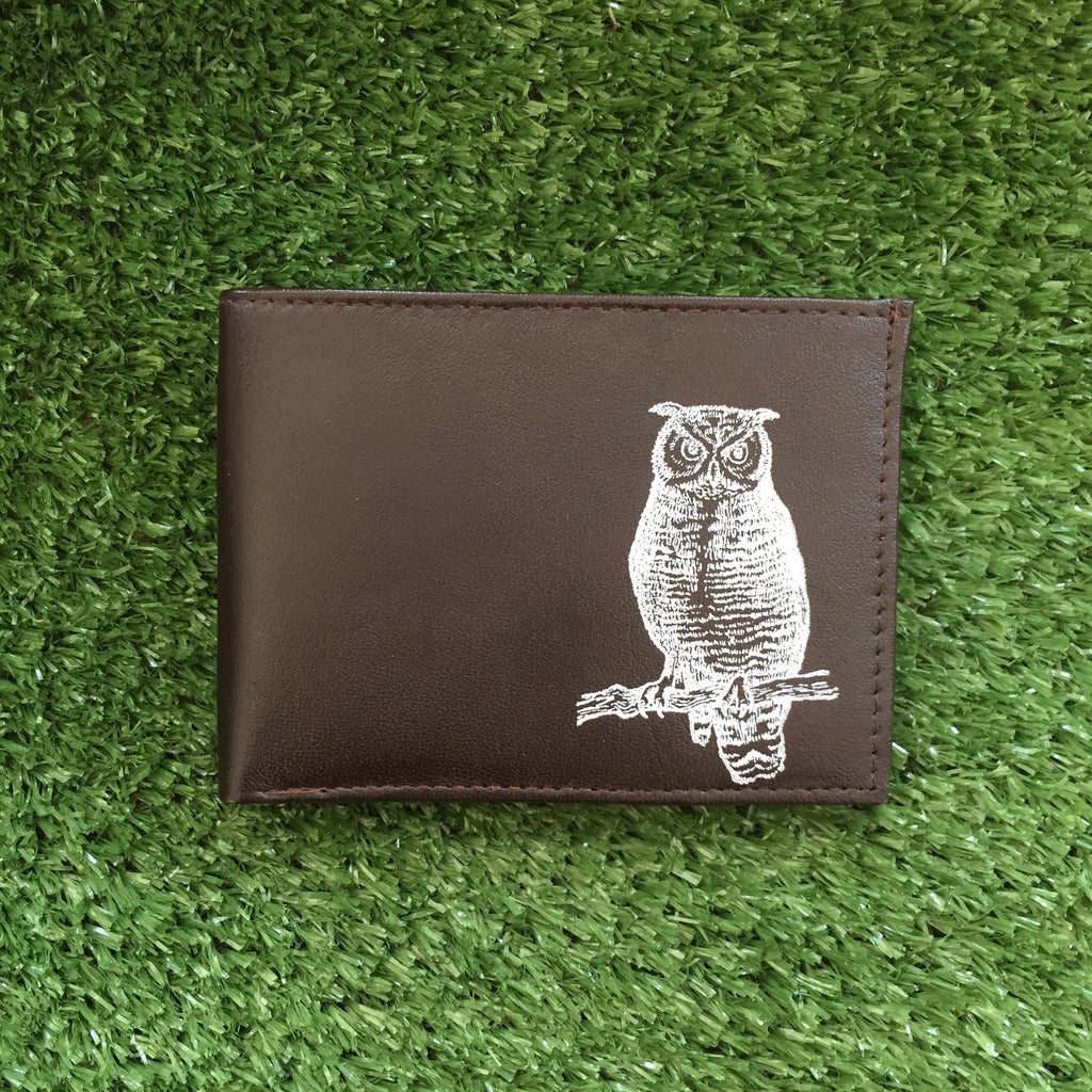 Shara Porter Owl Wallet - Dark Brown