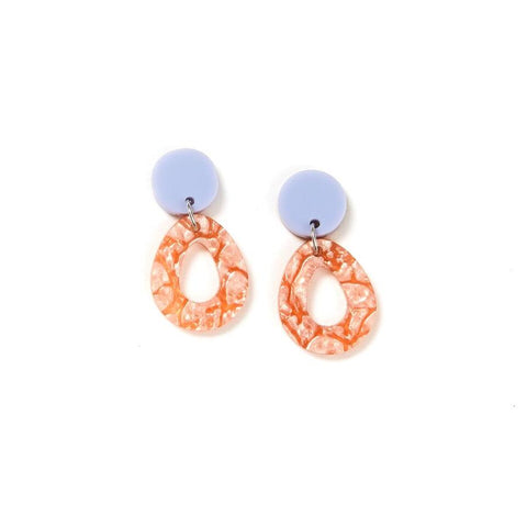 Martha Jean Mist/Orange Tempest Earrings