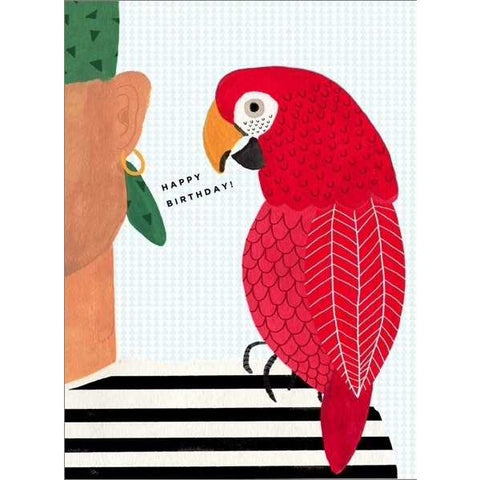Carolyn Suzuki Happy Parrot Birthday Card