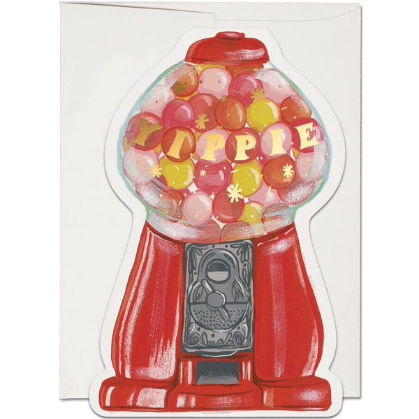 Red Cap Cards Gumballs Yippie Card