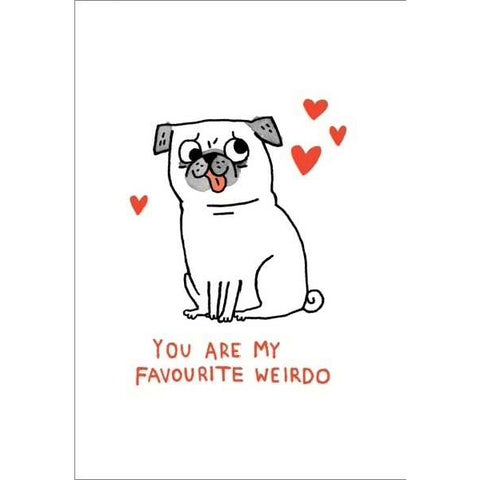 Ohh Deer Favourite Weirdo Card