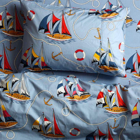 Kip & Co Hey Sailor Single Pillowcase
