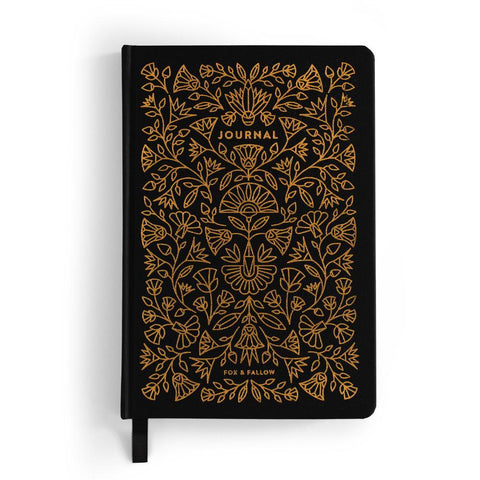 Fox & Fallow Obsidian Dot Grid Journal