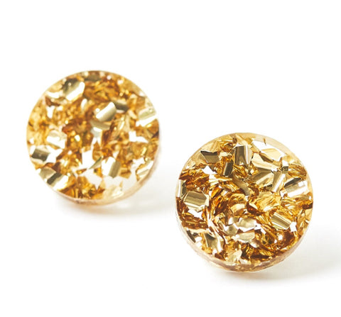 Martha Jean Gold Dust Circle Stud Earrings