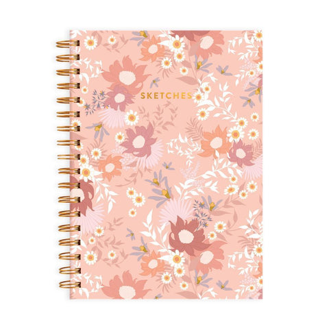 Fox & Fallow Floribunda Medium Spiral Sketchbook