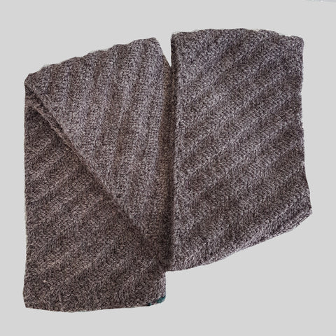 Knits by AK Grey Diagonal Stripe Scarf