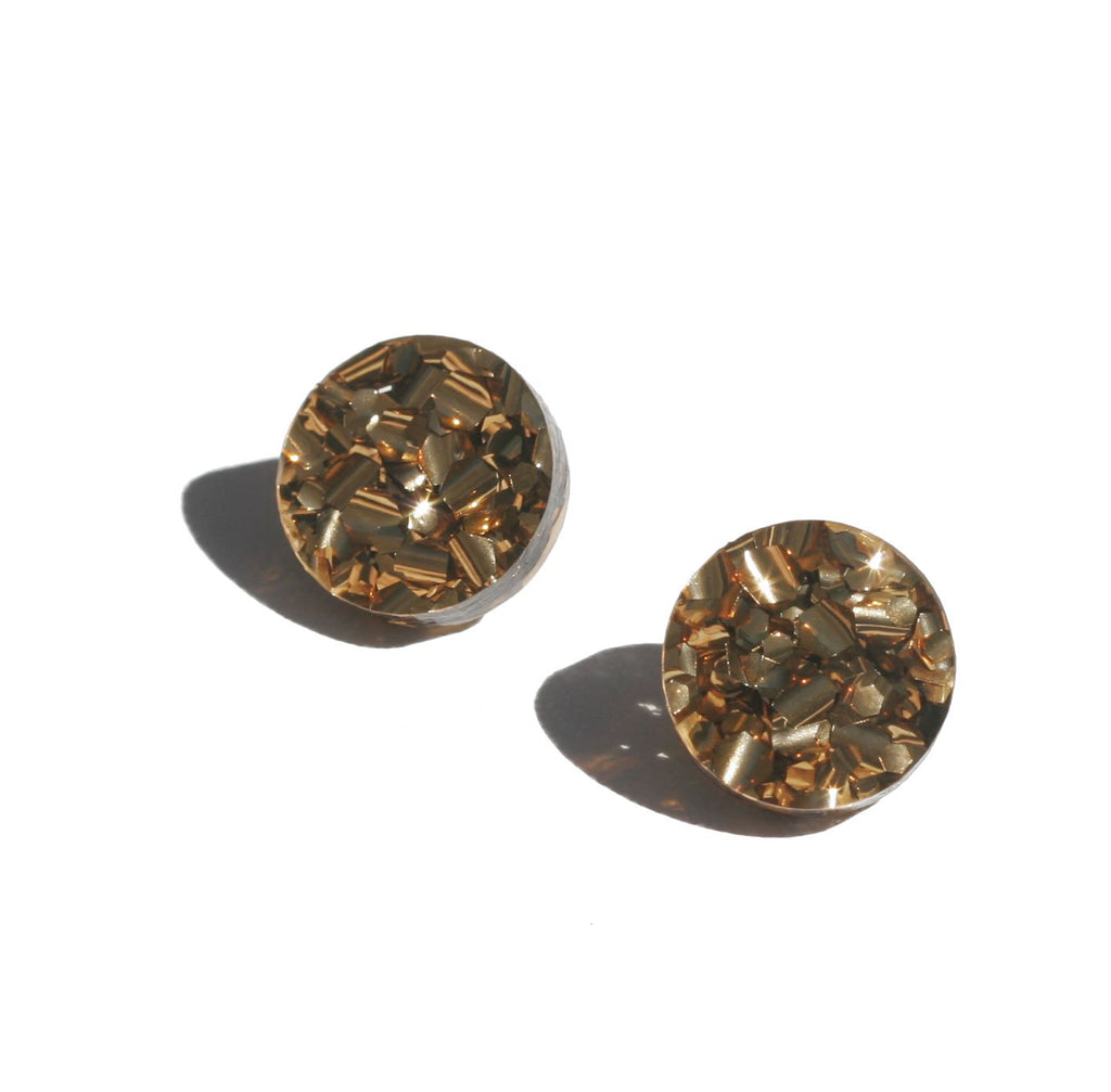 Martha Jean Bronze Circle Stud Earrings