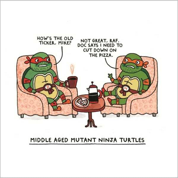 Ohh Deer Middle Aged Ninja Turtles Card