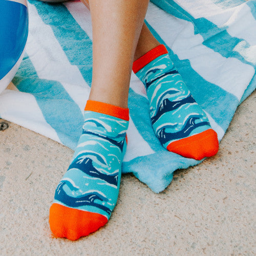 Woven Pear Hang Ten Ankle Socks