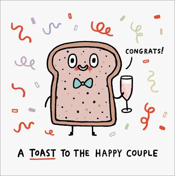 Ohh Deer Toast to the Couple Card