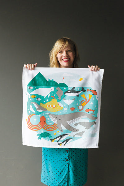 Danica Studio In the Deep Designer Tea Towel