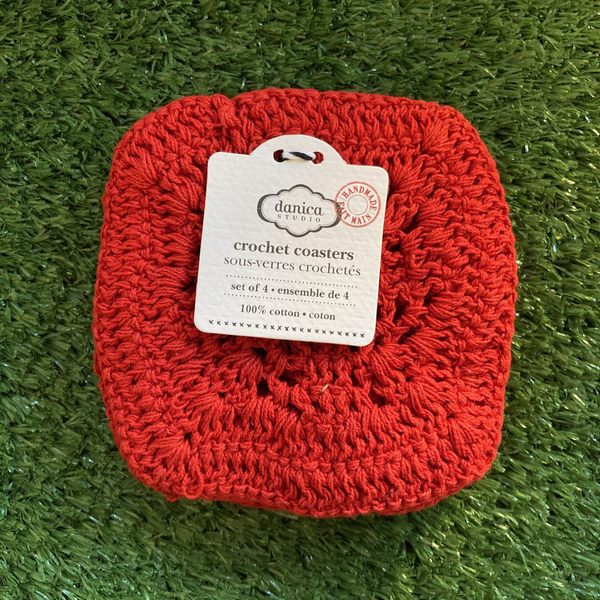 Danica Studio Grenadine Crochet Coaster Set