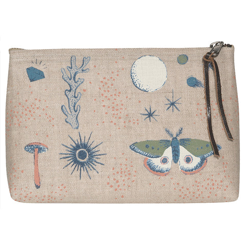Danica Studio Mystique Small Linen Cosmetic Bag