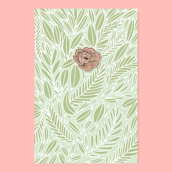 The Good Twin Flower Pin & Postcard