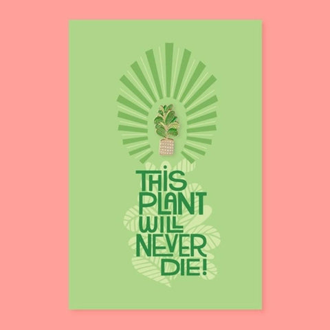 The Good Twin Plant Pin & Postcard