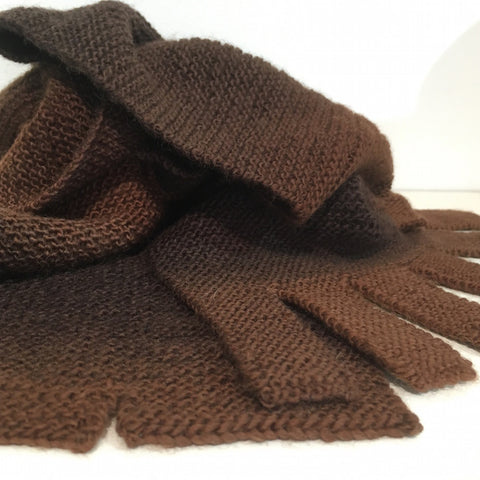 Knits by AK Chocolate Scarf