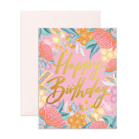 Fox & Fallow Birthday Wildflower Card