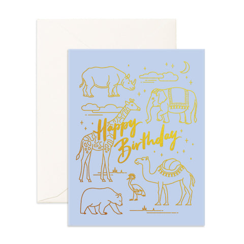 Fox & Fallow Birthday Animals Card