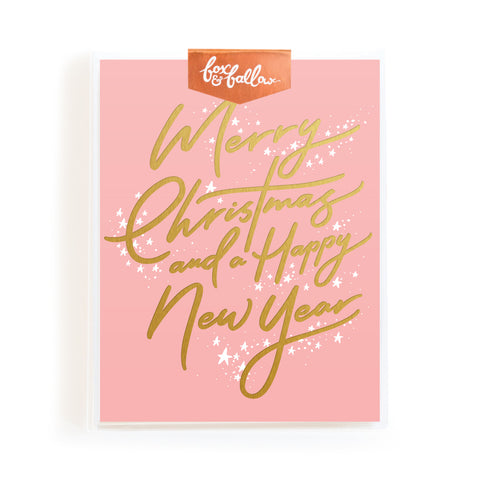 Fox & Fallow Gold Foil Christmas & New Year Cards Boxed Set
