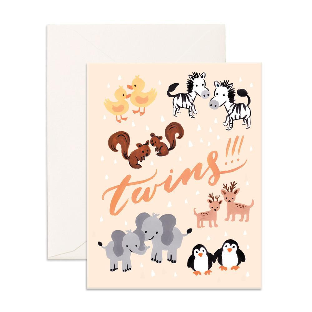 Fox & Fallow Twins Card