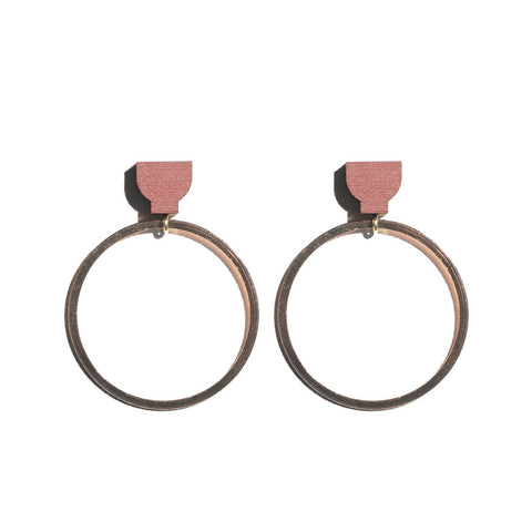 Martha Jean Terracotta/Copper Hoop Earrings