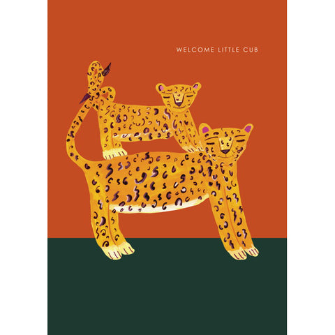 Hutch Cassidy Welcome Little Cub Leopard Card