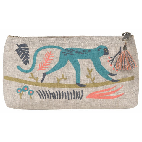Danica Studio Empire Small Linen Pencil/Cosmetic Bag