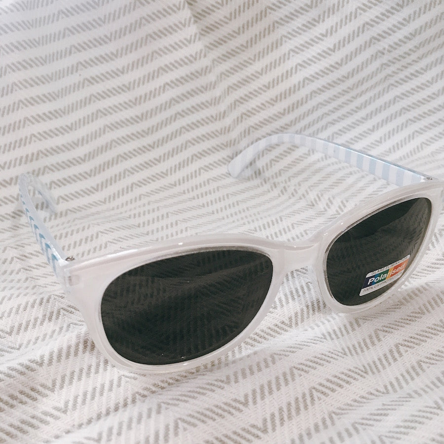 Unity Kids' White Stripe Sunglasses