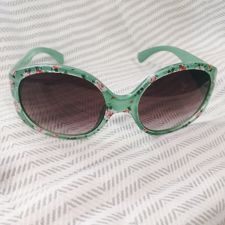 Unity Kids' Green Floral Sunglasses