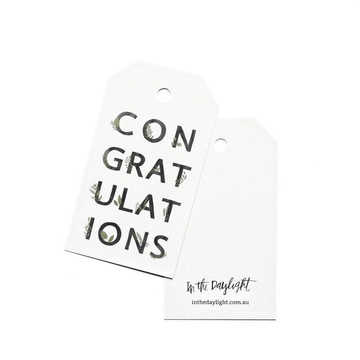 In the Daylight Congratulations Botanic Gift Tag Set