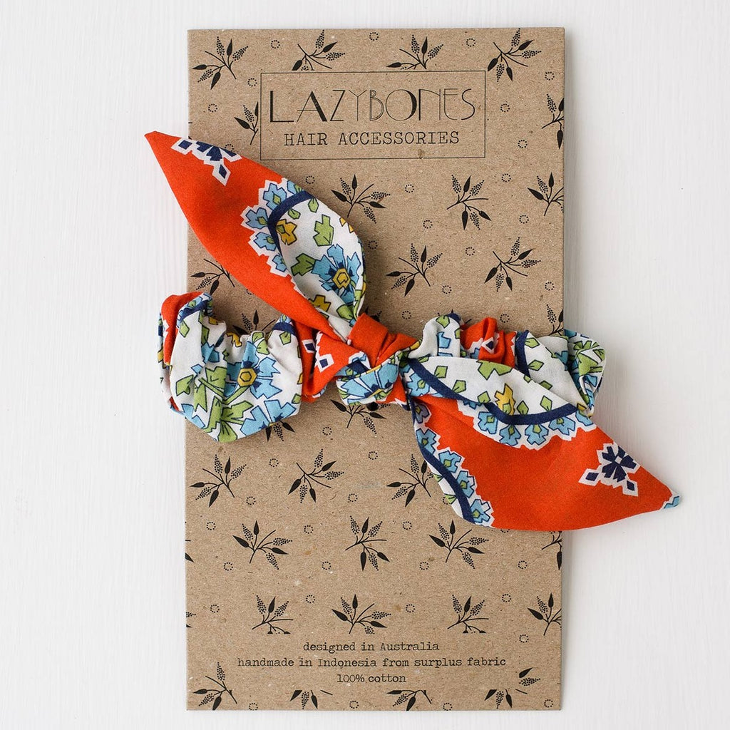 Lazybones Scrunchie with Bow - Aloha